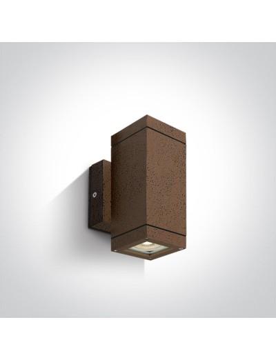 One light Аплик за монтаж на открито, GU10, 2х35W, IP54 67130A/BR