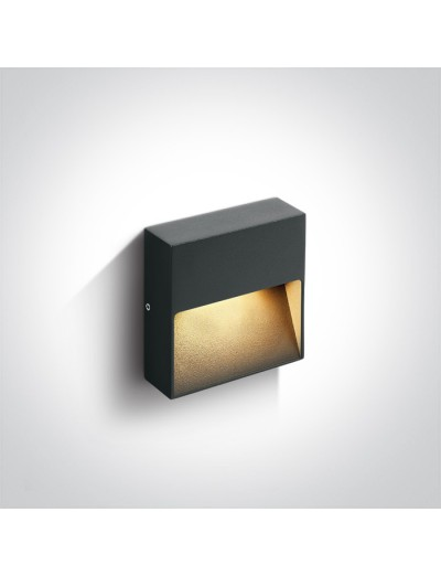 One light LED аплик, 3W, IP54, топла бяла светлина 67359A/AN/W