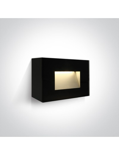 One light LED аплик, 4W, IP65, топла бяла светлина 67076/B/W