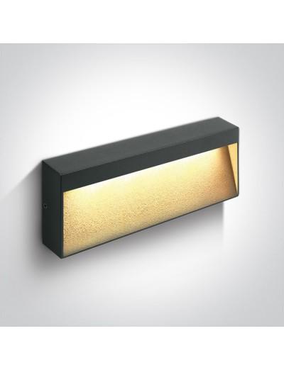 One light LED аплик, 6W, IP54, топла бяла светлина 67359B/AN/W