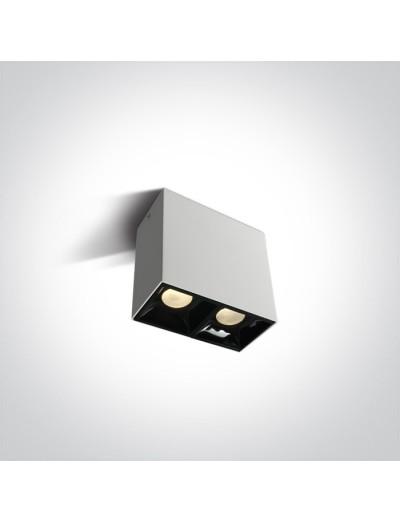 One light LED луна за външен монтаж, двойна, 2х7W топла бяла светлина 12207B/W/W