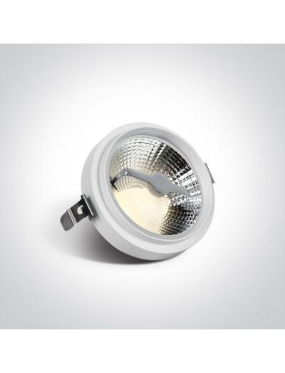 One light Луна за вграждане, регулируема, 75W, GU10 11110TR/W