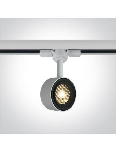 One light Спот за шина LED 8W топла бяла светлина 65644T/W/W