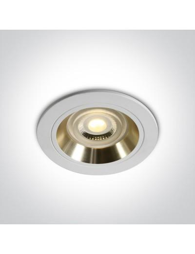 One light Луна за вграждане GU10 фиксирана, , бяла, златист рефлектор 10105ALG/W/GL