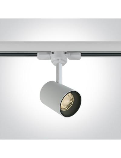 One light Спот за шина LED 8W топла бяла светлина 65646T/W/W