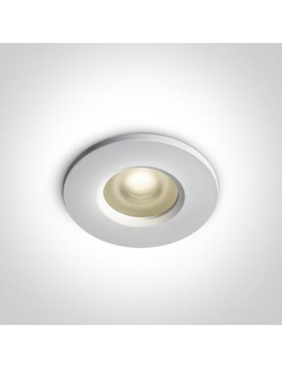 One light Луна за вграждане влагозащитена, IP65 GU10, фиксирана, бяла 10105R1P/W