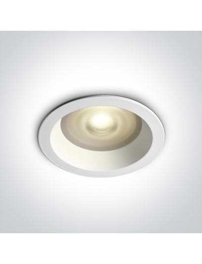 One light Луна за вграждане влагозащитена, IP65 GU10, фиксирана, бяла 10105R2P/W