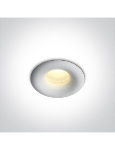 One light влагозащитена LED луна за вграждане, фиксирана, 1W, IP44 синя светлина 10101L/W/W