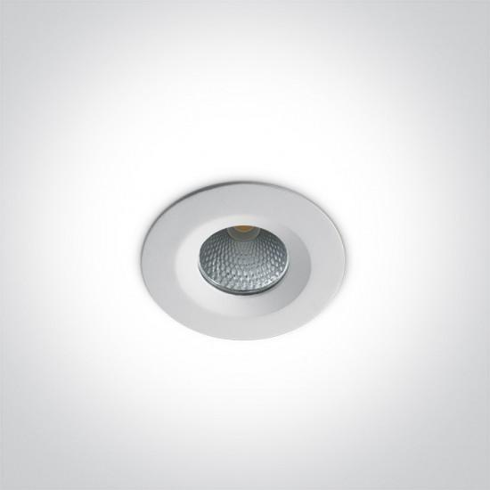 One light LED луна за вграждане 7W, неутрална светлина 10107CA/W/C - Луни за вграждане