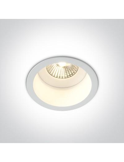 One light влагозащитена LED луна за вграждане, фиксирана,  7W, IP54, топла бяла светлина 10107WD/W/W