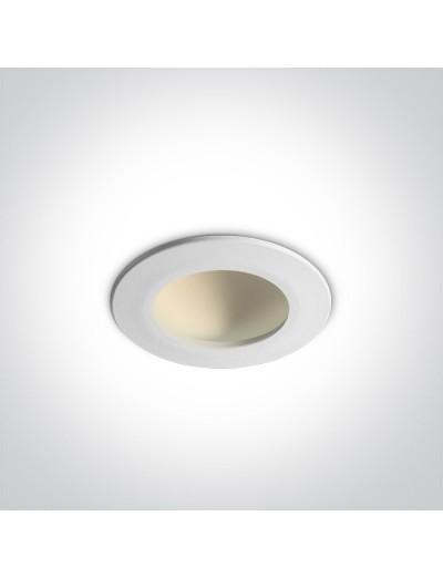 One light LED луна за вграждане 8W, топла бяла светлина 10108FD/W/C
