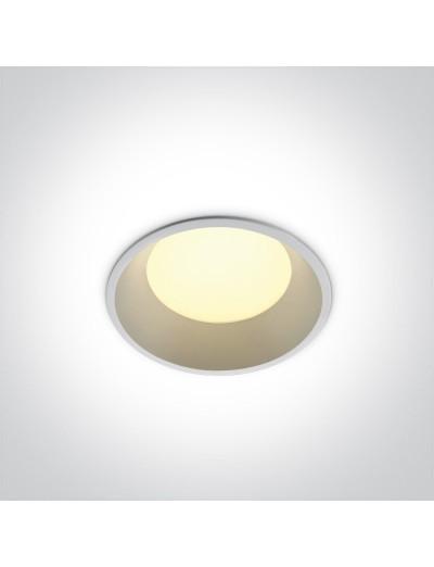 One light LED луна за вграждане 9W, IP54, неутрална светлина 10109FD/W/W