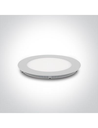 One light LED луна за вграждане 12W, IP40 топла бяла светлина 10112FA/W/W