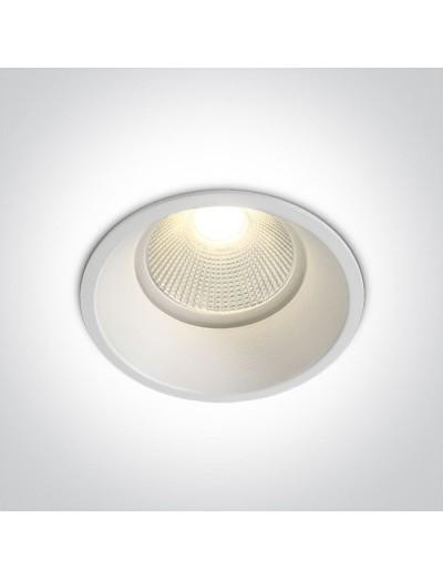 One light влагозащитена LED луна за вграждане, фиксирана,  12W, IP44, топла светлина 10112TP/W/EW