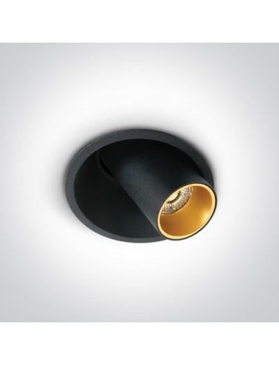 One light LED луна за вграждане, регулируема, 7W, топла бяла светлина 11107C/B/W