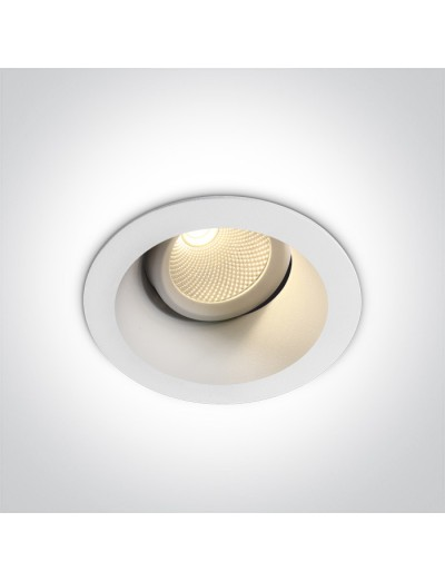 One light LED луна за вграждане, регулируема, 7W, топла бяла светлина 11107FD/W/W