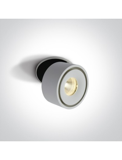 One light LED Спот с основа за вграждане, регулируем, 8W, топла бяла светлина 11108LA/W/W