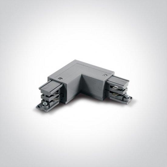 One light ъглов конектор за шина ляв сив 41012A/G/L - Аксесоари за тоководещи шини