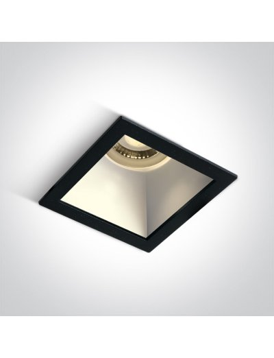 One light Луна за вграждане квадратна, GU10 10W черно и бяло 50105M/B/W
