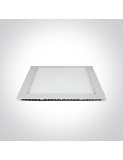 One light LED панел за вграждане, 30W, IP40, топла бяла светлина 50130FA/W/W