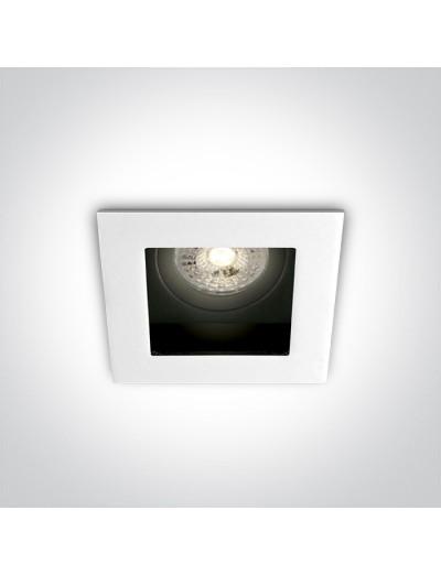 One light луна за вграждане, квадратна, регулируема, GU10, 50W, 51105TA/W