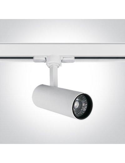 One light Спот за шина LED 10W топла бяла светлина 65642AT/W/W