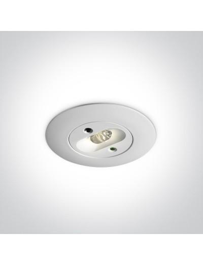 One light Аварийна светлина за вграждане LED 2W с батерия 89002