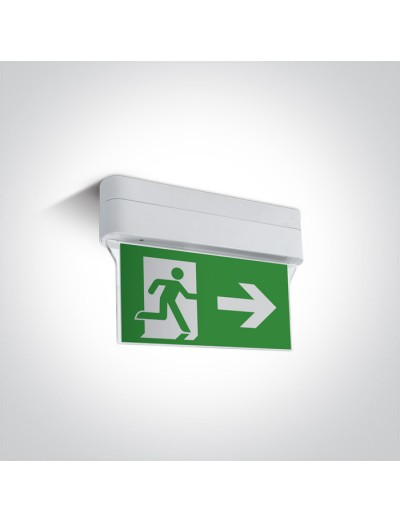 One light Евакуационен знак LED 1W IP44 89406/W