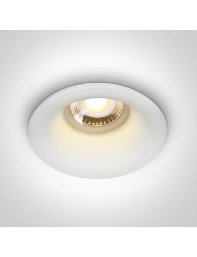 One light Луна за вграждане GU10 фиксирана, бялa 10105DG/W