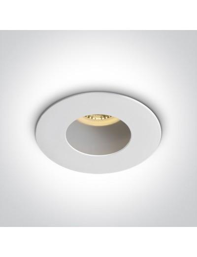 One light Луна за вграждане, GU10, фиксирана, бяла 10105MD/W/W
