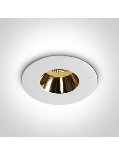 One light Луна за вграждане, GU10, фиксирана, бяло и злато 10105MD/W/GL