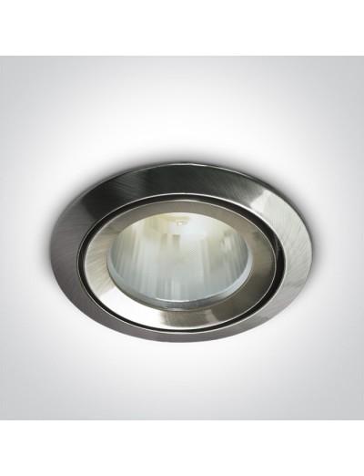 One light Луна за вграждане влагозащитена GU5.3 фиксирана IP43 хром 10105CJ/MC/5