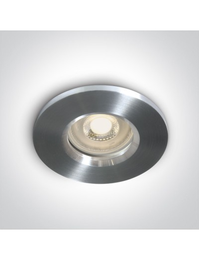 One light Луна за вграждане влагозащитена, IP65 GU10, фиксирана, алуминий 10105R1/AL