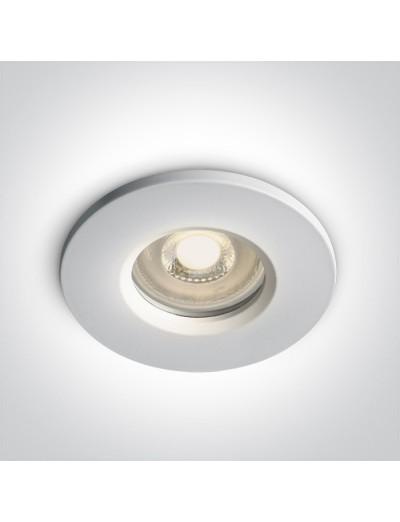 One light Луна за вграждане влагозащитена, IP65 GU10, фиксирана, бяла 10105R1/W