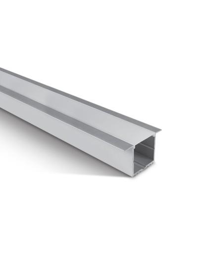 One light Профил за LED лента за вграждане, 2м с дифузер 7910R/AL