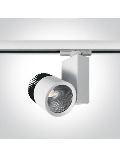 One light Спот за шина LED 45W топла бяла светлина 65614T/W/W