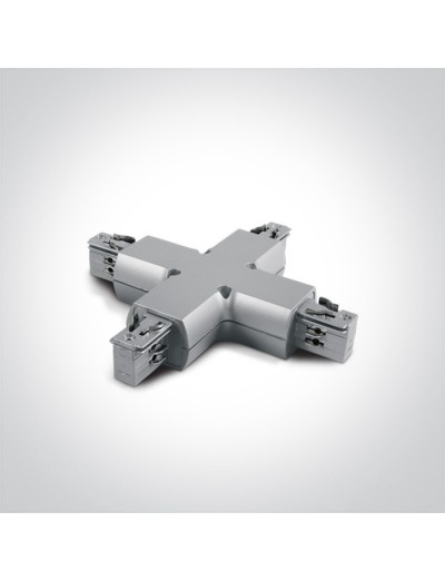 One light X-образен конектор за шина сив 41018/G