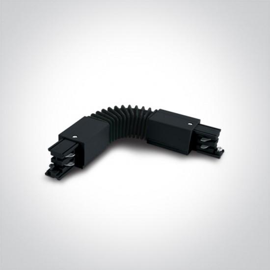 One light гъвкав ъглов конектор за шина черен 41024A/B - Аксесоари за тоководещи шини