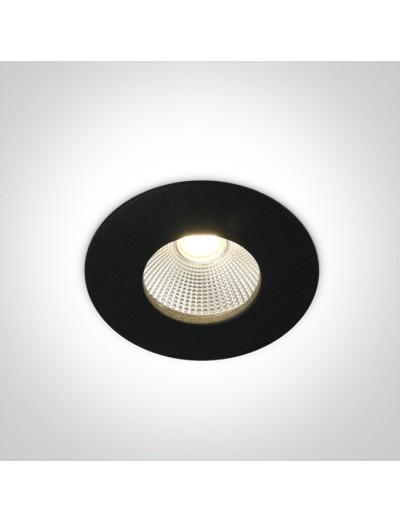 One light влагозащитена LED луна за вграждане, фиксирана,  12W, IP64, топла бяла светлина 10112P/B/W