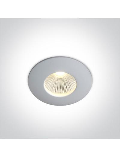 One light влагозащитена LED луна за вграждане, фиксирана,  7W, IP65, топла бяла светлина 10107P/W/W
