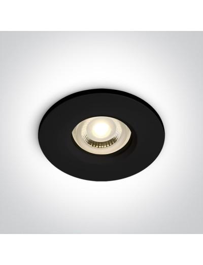 One light Луна за вграждане влагозащитена, IP65 GU10, фиксирана, черна 10105R1/B