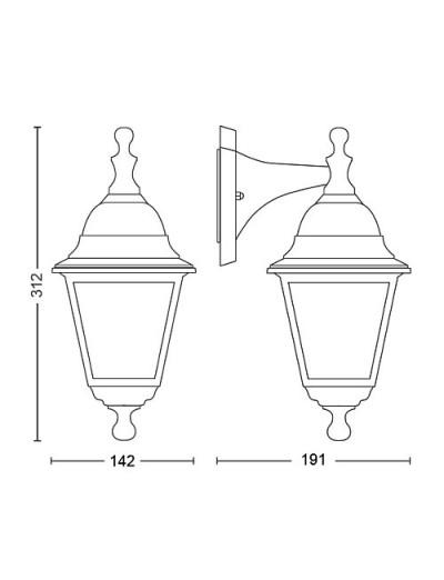 Philips Градинска лампа LIMA 60W E27 17472.30.PN