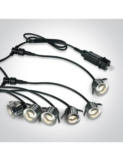 One light Сет LED луни за вграждане, IP67, топла бяла светлина 69002A/W