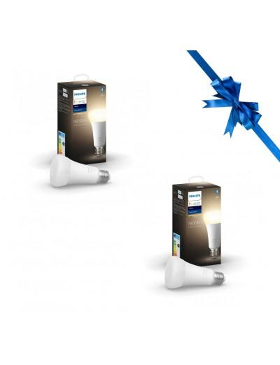 Комплект 2 бр лампи Philips HUE White A60, 15.5W , 1600Lm HUEPROMOPACK15