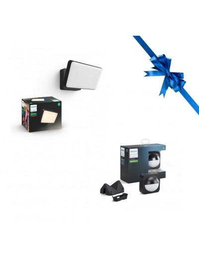 Комплект прожектор Philips HUE Welcome + Външен сензор за движение Philips HUE HUEPROMOPACK19
