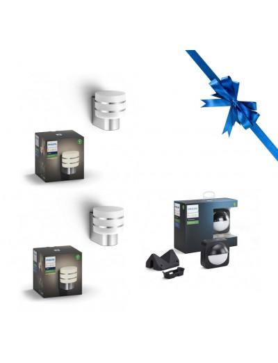 Комплект 2бр Външен аплик Philips HUE Tuar + Външен сензор за движение Philips HUE HUEPROMOPACK21
