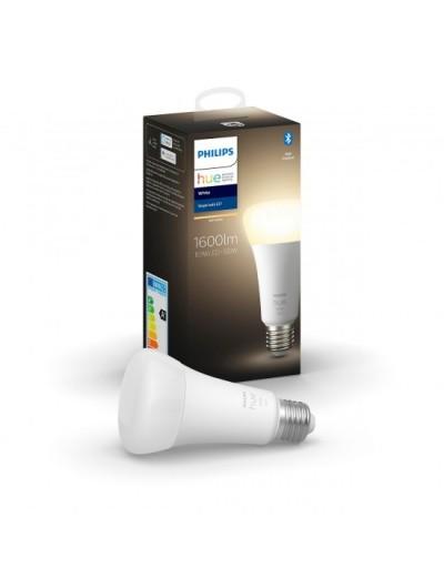 Комплект лампа Philips HUE White A60, 15.5W , 1600Lm + Сензор за движение Philips HUE HUEPROMOPACK18