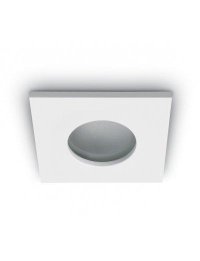 One light Луна за вграждане - за баня бяла метал квадрат MR16 GU5.3 50W -  12V IP44 50105R/W