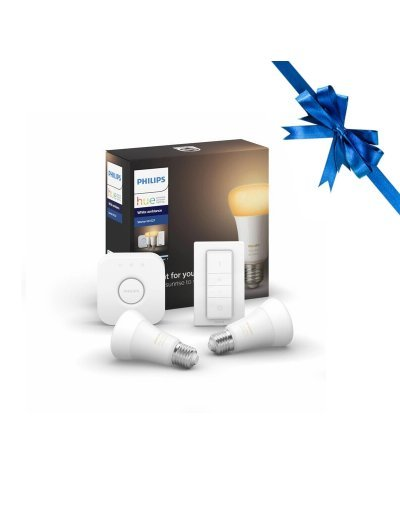 Philips HUE К-т 2бр LED Лампи +конектор 17W WA E14  871869973608800