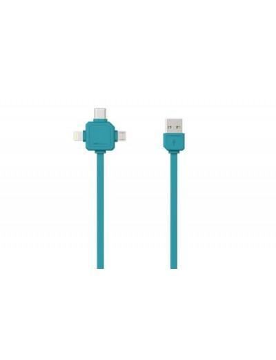 ALLOCACOC USB КАБЕЛ USB-C - USB TYPE-C, APPLE LIGHTNING, MICRO USB Power Cube USB Cable A9003BL